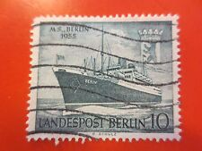 """1955 - Berlin - Mi.Nr.126 - Taufe Motorschiff """"Berlin""""  - gestempelt m. Falzr."""