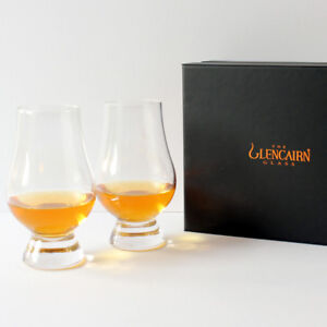 The Glencairn Official Whisky Nosing Glass - Set of 2 (Black Presentation Box)