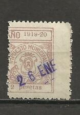 7338-SELLO LOCAL CARTAGENA MURCIA AÑOS 1919-20.USADO,RARO,SPAIN REVENUE CLASSIC