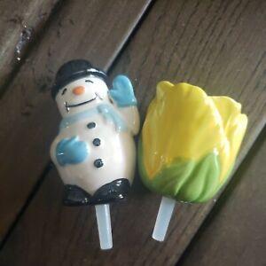 Nora Fleming Snowman Frosty Pal & Flower
