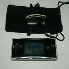 Nintendo Game Boy micro Silver Famicom Handheld System W/ Charger