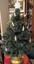 Vintage Fiber Optic Xmas tree with candles & Star- Nat tree Co. 2000