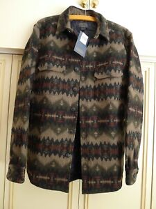 Pendleton Jacquard Sonora Olive 'CPO' Jacket, Size Med. Brand New With Tags.