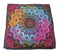 Multi Large Floor Cushion Pillow Cover Star Mandala Square Room Decorative Throw