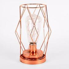 LED Light Up Rose Gold Lantern Decoration HE897