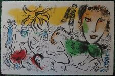 CHAGALL MARC : LE CHEVAL VERT # LITHOGRAPHIE # MOURLOT 699 # 1973