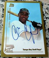 CARL CRAWFORD 1999 Topps Traded AUTO Rookie Card RC Rays Dodgers 136 HRs 480 SBs