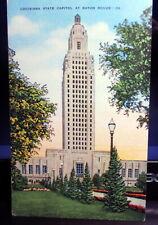 "Vintage Linen Postcard ""Louisiana State Capitol, Baton Rouge, LA"" #2457, UNUSED"