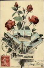 Meilleurs Souvenirs Le Havre France Multi-View c1910 Postcard