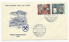 Germany Scott #B358-B359 on First Day Cover October 1, 1957 Wohlfahrtsmarken