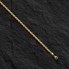 """14k Solid Yellow Gold ROPE Pendant link Chain/Necklace 22"""" 1.2 mm 3 grams  LROY"""