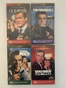 James Bond 007 Collection VHS You Only Live Twice Thunderball Dr No Octopussy