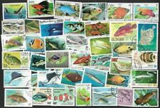 Fish on stamps 200 all different collection