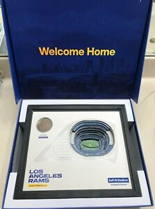 2020 Los Angeles Rams Ticket Member Inaugural Season Gift Box-SoFi Stadium model