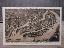 Carte postale n°106 Nantes avant le sable et le feu - Le pont maudit et la Loire