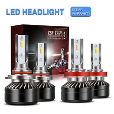 4x 9005+H11 Combo LED Headlight Bulbs Conversion Kit High Low Beam 6000K 24000LM
