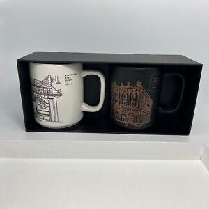 Starbucks Roastery Reserve Seattle Pike Place Milano Italy 1971 Mug Set 12oz