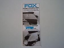 advertising Pubblicità 1978 FOX UTAH e VESPA