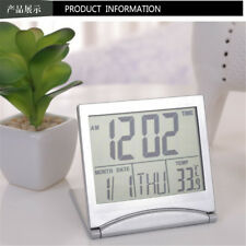 Desk Thermometer Cover Date Time Digital LCD Alarm Clock Flexible Thermometer