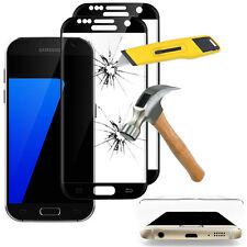 2x Films en VERRE Trempé Bord Incurvé Resistant NOIR Samsung Galaxy S7 G930F