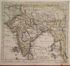 INDIA SRI LANKA TIBET BURMA LAOS BANGLADESH PAKISTAN 1860 ANONYMOUS ANTIQUE MAP