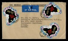 DR WHO 1969 SIERRA LEONE FREETOWN AIRMAIL TO CANADA GOVERNMENT SERVICE  f55031