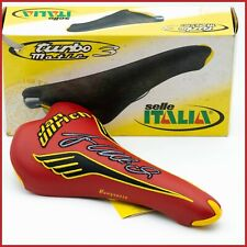 NOS SELLE ITALIA TURBO MATIC 3 IAN ULLRICH  SADDLE VINTAGE SEAT 90s RED YELLOW
