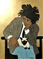 Jean-Michel Basquiat Fine Art Print by Marianne L'Heureux fits into 16X20 frame