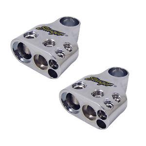 Stinger SPT55302 Battery Terminals Positive Negative 1/0/4 & (2)8 Gauge QTY:2