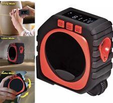 3-in-1 MEASURE KING Digital Laser Sonic,Roller,Cord Tape Measure LED DISPLAY USA