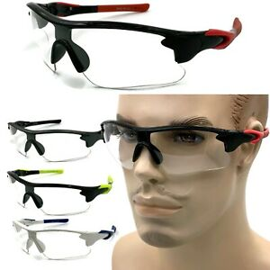 SPORT RACQUETBALL Lens Clear PROTECTIVE EYE GLASSES GOGGLES EYEWEAR Wrap Style