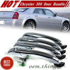 Chrysler 300 300C Dodge Magnum Charger Out side Door Handle Chrome 4 Pcs Set