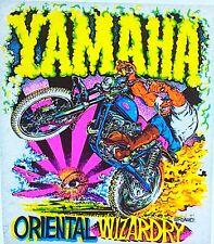 Original Vintage Yamaha Oriental Wizardry Motorcycle Iron On Transfer Dayglo