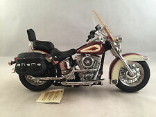 Franklin Mint Red Harley Davidson Heritage Soft Tail Classic 1:10 Scale with Box