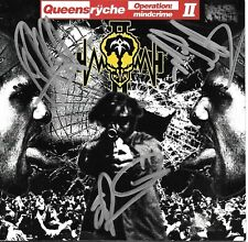 Queensryche Signed Operation Mindcrime Ii Cd Wilton Jackson Rockenfield