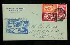 Postal History Portugal Scott #573+C2+C6 Airmail First Flight 5/27/1939 Horta NY