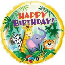 Happy Birthday Jungle Friends Qualatex 18 Inch Suprafoil Balloon