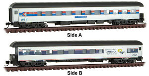 Micro-Trains MTL N-Scale Amtrak 50th Anniversary Passenger Observation Car