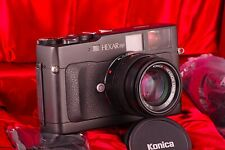 Premium Sucherkamera Konica Hexar RF + M-HEXANON 50mm F/2 Leica M Mount As Neu