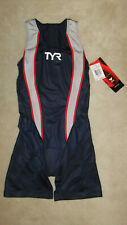 TYR Tracer Tri Zipback Short John Triathlon Female