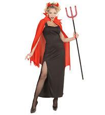 Teufelin Teufel Satan Kleid Umhang Hörner Kostüm Karneval Halloween Größe XL
