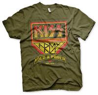 KISS Army Loud & Proud Est. 1975 Rock Band Musik Tour Männer Men T-Shirt Olive