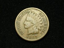 SUMMER SALE!!  1887 INDIAN HEAD CENT PENNY *U.S. COLLECTIBLE COIN* #34x