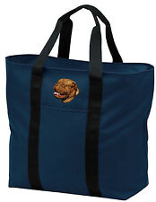 Dogue De Bordeaux embroidered tote bag Any Color