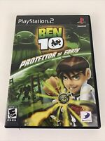 Ben 10 Protector Of Earth Sony PlayStation 2 PS2 Video Game Cartoon Network 2007