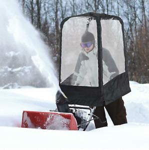 Snow Blower Protection Cab Attachment Snow Equipment Blocks Away Wind Blocker