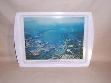 Vintage Muskegon Lake Michigan Area View Photo Serving Tray Hackley Union Bank