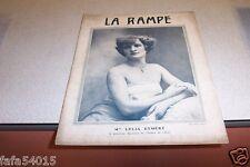 REVUE LA RAMPE N° 250 Mlle LYLIA EYMERY 03 09 1921
