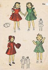 """5764 Vintage Slender Doll Pattern Size 16"""";1943 World War II"""