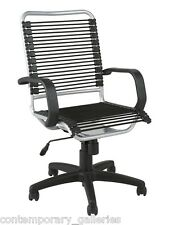 High Back Height Adjustable Tilt Black & Silver Bungie Bungee Desk Task Chair